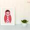 Babushka Doll Applique Template, PDF Pattern for Children, Baby, Girls