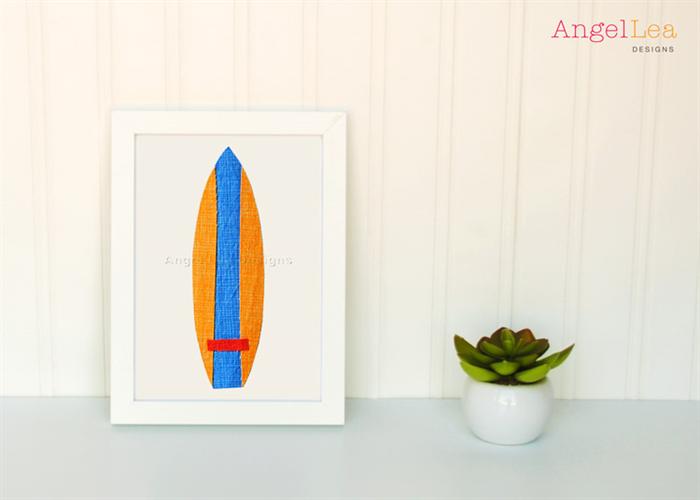 surfboards applique pattern pdf template includes 5 surfboard