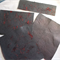 HANDMADE PAPER - BLACK AND RED SILK.