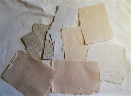 HANDMADE PAPER - VARIETY - SMALL PIECES
