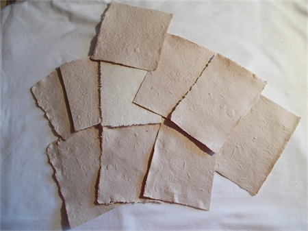 ANTIQUED COTTON PAPER - HANDMADE  SMALL PIECES