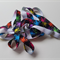 Rainbow splash FOE - brightly coloured splashe on black - hair ties - 2.2m