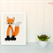 Fox Applique Template, DIY, PDF Fox Applique Pattern, Childrens Design