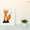 Fox Applique Template, DIY, PDF Fox Applique Pattern, Childrens Design