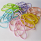 20 x thin hair tie elastics - pastel mix