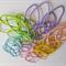 20 x thin hair tie elastics - pastel mix