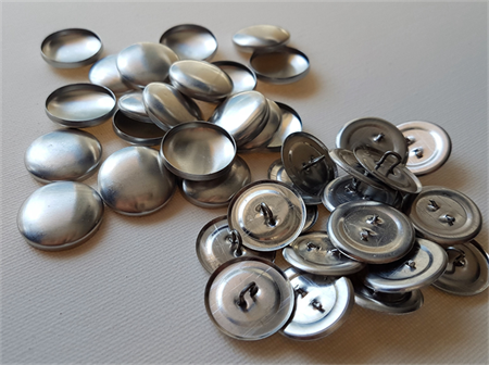 20 x Self cover buttons size 36 (23mm) - Shank Back