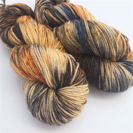 "Bamboo Sock (Wool/Bamboo/Silk) ""3am"" Hand Dyed Yarn"