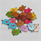 30 Cute Birdie Buttons - Assorted Colours