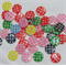 30 check Buttons - Assorted Colours