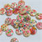 30 Floral Buttons - Assorted Colours