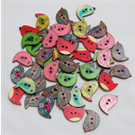 30 Sweet Birdie Buttons - Assorted Colours