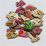 20 Cat Buttons - Assorted Colours