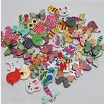 50 Animal Buttons - Assorted Colours
