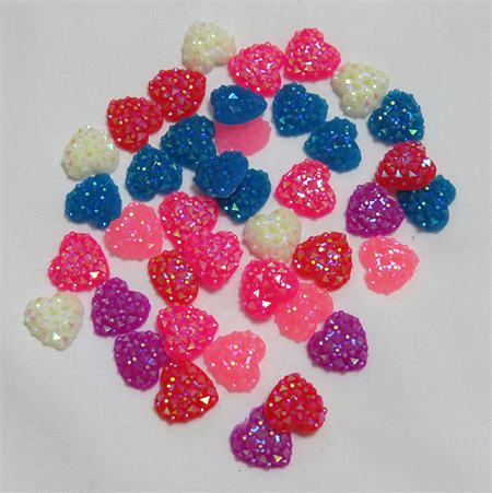 20 Sparkly Heart Embellishments