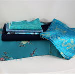 Remnants, quilting, craft, crazy patchwork,sewing, stash builder, MIXED BLUE