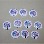20 MM TREE GLASS CABOCHONS - 10 PACK