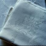 Cotton damask pieces