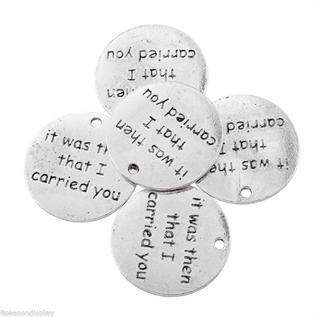 """5 """"It was then that I carried you"""" Pendants"""