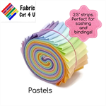"20 x 2.5"" Pastels Jelly Roll, Precut Fabric Strips, Cotton"