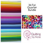 "36 FQ Fat Quarter Bundle,  18"" x 22"", Cotton"