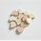 12 x wooden hearts