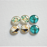 GLASS BIRD CABOCHONS