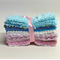 "CHENILLE VINTAGE, 6"" Squares, Baby Blues, Pinks, Creams, Quilting, Patchwork"