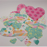 50 Paper hearts for decorating
