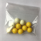 10 yellow gumball beads