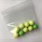 9 green gumball beads