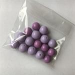 16 purple gumball beads