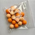 16 orange gumball beads