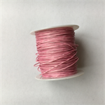 Pink 1mm waxed cotton cord