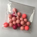 21 pink gumball beads