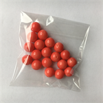 19 coral gumball beads