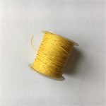 Yellow 1mm waxed cotton cord