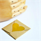 Gold Heart Stickers Foil {50} Large | Gift Envelope Seals DIY Supplies | Wedding
