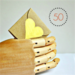 Gold Heart Stickers Foil {50} Large | Gift Envelope Seals DIY Supplies