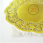 Gold Foil Doilies {20} | Metallic Foil Doilies | French Vintage Lace Doilies