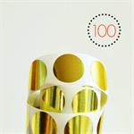 Gold Foil Circle {25mm} Stickers {100} Seals | DIY Supplies