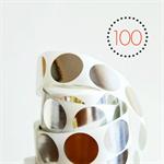 Silver Foil Circle {25mm} Stickers {100} Seals | DIY Supplies