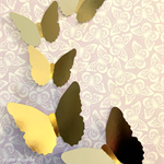 Gold butterfly shapes, craft shapes, party decor, DIY invitations. Card making.