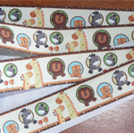 Ribbon  Animals in Natural & Brights   2.5cm X 1 metre