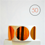 Copper Circle Stickers Foil {50} Large {50mm} | Gift Envelope Seals DIY Supplies