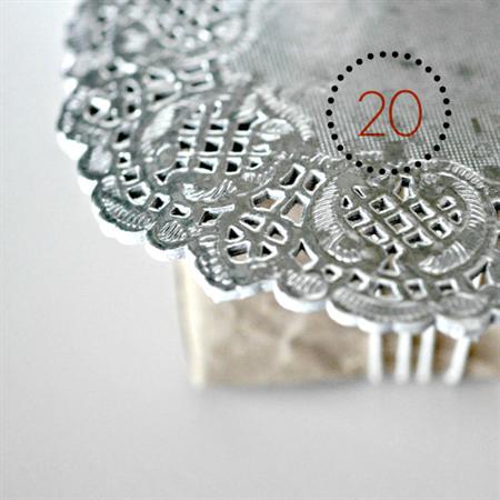 Silver Foil Doilies {20} | Metallic Foil Doilies | French Vintage Lace Doilies