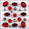 Cherry Delight Glass Beads Mix Fashion Flair Red Beads
