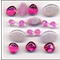 Cotton Candy Glass Beads Mix Fashion Flair Beads Pink White
