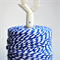 Super Chunky {30ply} Blue Striped Twine {5m} Red White Cord | Christmas in July