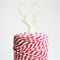 Super Chunky Cord {30ply} | Red Striped Twine {5m} Red White Cord | Christmas